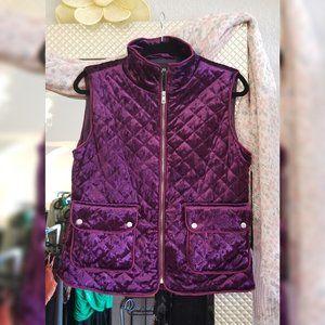 Purple Active velvet quilt pocket vest